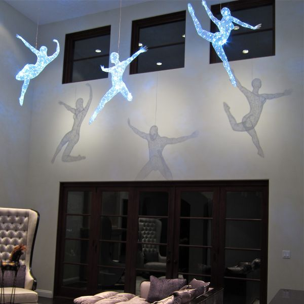 48 inch Trio Lighted, shadow lights, Los Angeles